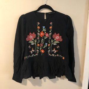 ZARA woman peplum blouse